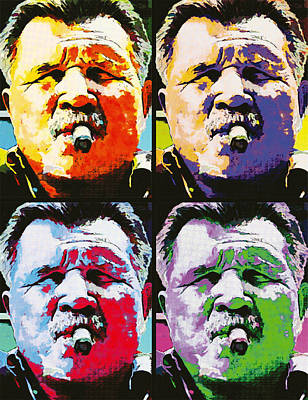 Chicago Bears Painting - Pop Ditka by John Farr