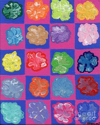 Blending Painting - Pop Flowers by Melissa Vijay Bharwani