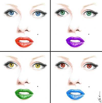 Painting - Pop Marilyn by Bruce Lennon