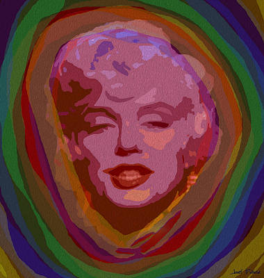 Marilyn Monroe Painting - Pop Marilyn Monroe  by Sir Josef - Social Critic - ART