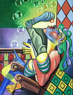 Painting - Pop My Bubble by Anthony Falbo