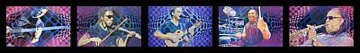 Drawing - Pop-op Full Band by Joshua Morton
