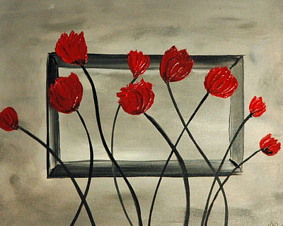 Gina Gray Painting - Pop Poppy by Gina Cooper