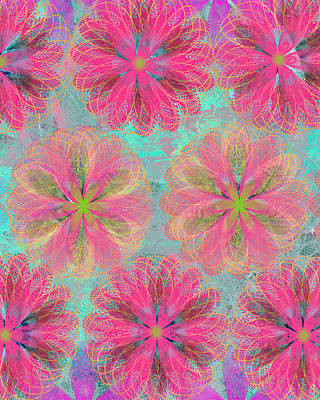 Etsy Art Mixed Media - Pop Spiral Floral 8 by Ricki Mountain