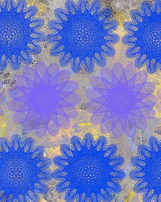 Etsy Art Mixed Media - Pop Spiral Floral I by Ricki Mountain