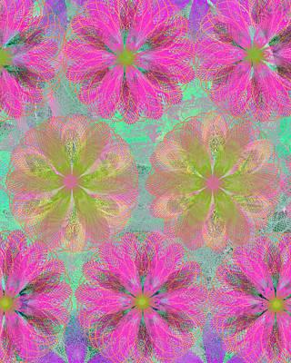 Etsy Art Mixed Media - Pop Spiral Floral I2 by Ricki Mountain