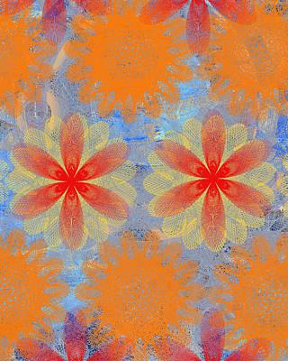 Etsy Art Mixed Media - Pop Spiral Floral V  by Ricki Mountain