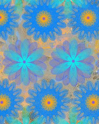 Etsy Art Mixed Media - Pop Spiral Floral Vi by Ricki Mountain