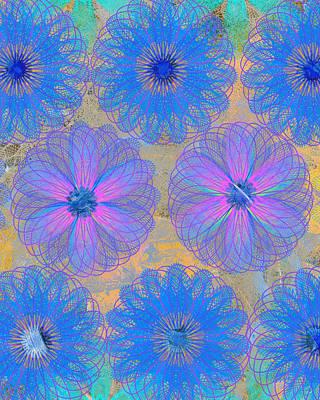 Etsy Art Mixed Media - Pop Spiral Floral Vii by Ricki Mountain