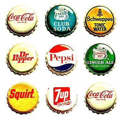 7 Up Photograph - Pop Tops by Benjamin Yeager