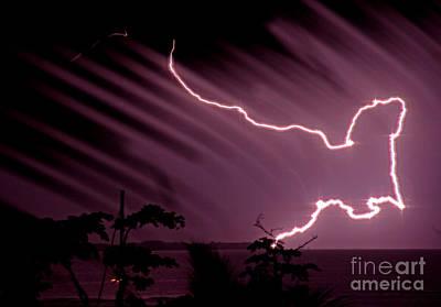 Popa Island Lightning Art Print