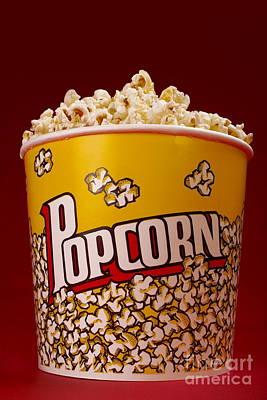 Popcorn Bucket Art Print by Diane Diederich