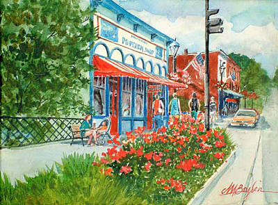 Popcorn Shop In Summer/chagrin Falls Art Print