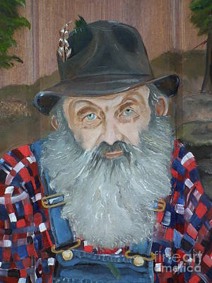 Popcorn Sutton - Moonshiner - Portrait Original by Jan Dappen