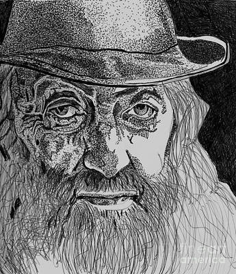 Drawing - Popcorn Sutton by Timothy Fleming