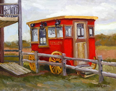 Painting - Popcorn Wagon In Viroqua by Jeff Dickson