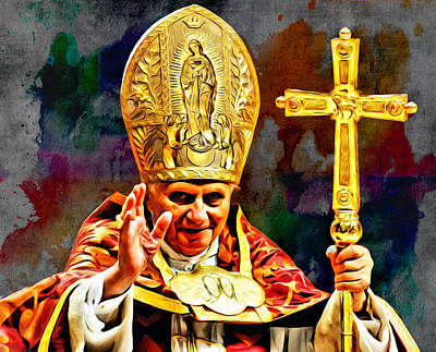 Photograph - Pope Benedict by Carlos Diaz