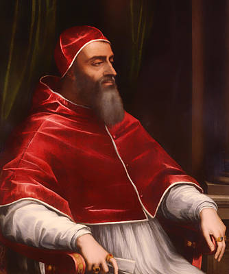 Christian Artwork Painting - Pope Clement Vii by Mountain Dreams