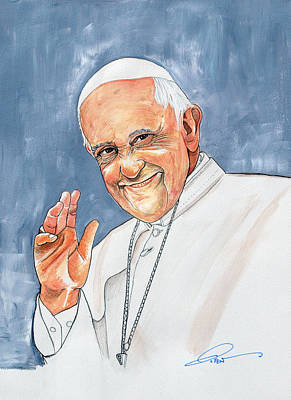 Religious Art Painting - Pope Francis by Dave Olsen