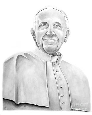 Drawing - Pope Francis by Devin Millington