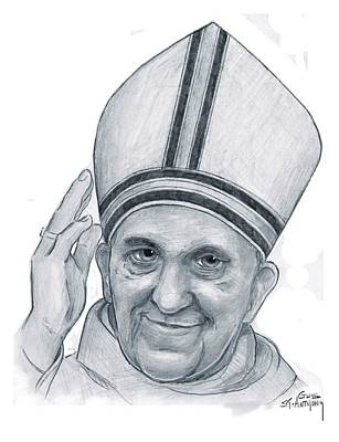 Pope Francis Original by Gus St Anthony