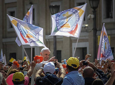 Photograph - Pope Francis In St Peters Square 1 - June 5 by Dwight Theall