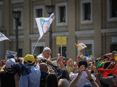 Photograph - Pope Francis In St Peters Square 2 - June 5 by Dwight Theall