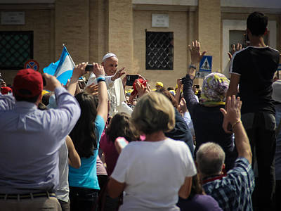 Photograph - Pope Francis In St Peters Square 3 - June 5 by Dwight Theall