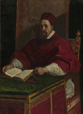 Giovanni Francesco Barbieri Painting - Pope Gregory Xv Guercino Giovanni Francesco Barbieri by Litz Collection