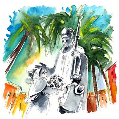 Painting - Pope Jean Paul II In Tenerife by Miki De Goodaboom