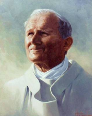 Painting - Pope John Paul 2 by Thomas Kolendra