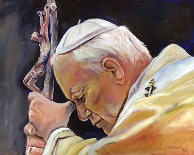 Pope John Paul II Art Print by Sheila Diemert