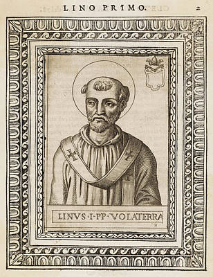 Linus Wall Art - Drawing - Pope Linus  The Second Pope, Following by Mary Evans Picture Library