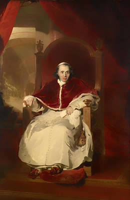 Christian Artwork Painting - Pope Pius Vii by Mountain Dreams