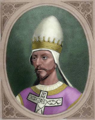 Religious Art Photograph - Pope Saint Gregory Vii (c by Prisma Archivo