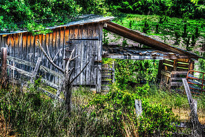 Photograph - Farm - Barn - Pope - Water Valley Barn by Barry Jones