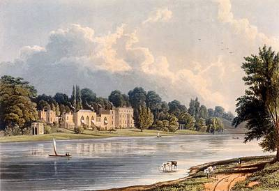Building Exterior Drawing - Popes Villa At Twickenham, 1828 by William Westall