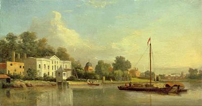 Villa Drawing - Popes Villa, Twickenham, London, Samuel Scott by Litz Collection