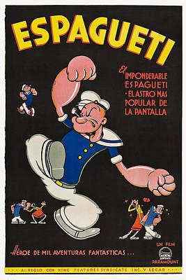 Popeye Aka Espagueti, On Argentinian Print by Everett