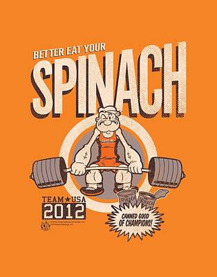 Spinach Digital Art - Popeye - Eat Your Spinach by Brand A