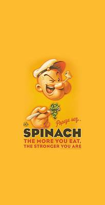 Spinach Digital Art - Popeye - Spinach Retro by Brand A