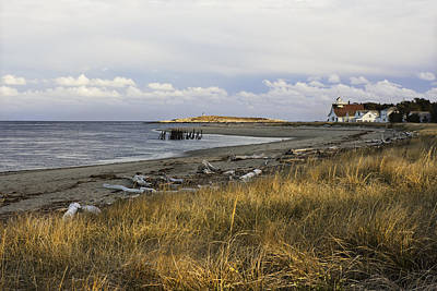 Maine Cottage Photograph - Popham Beach On The Maine Coast by Keith Webber Jr
