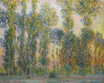 Poplar Painting - Poplars At Giverny by Celestial Images