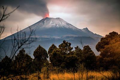 Popocatepetl Volcano From Puebla State Art Print by ©fitopardo.com