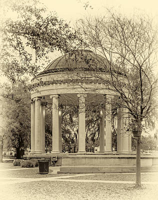 Popp Photograph - Popp Bandstand Sepia by Steve Harrington