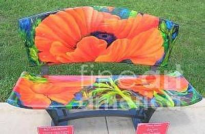 Painting - Poppie Bench by Glory Wood