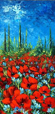 Poppie Field Art Print