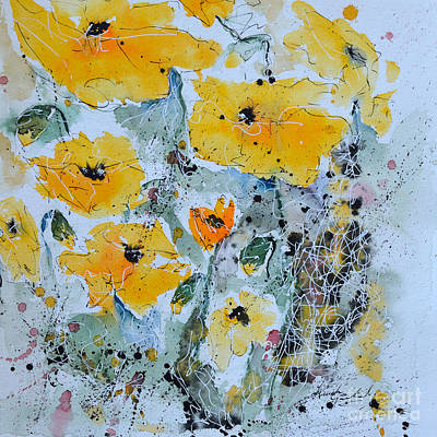 Painting - Poppies 02 by Ismeta Gruenwald