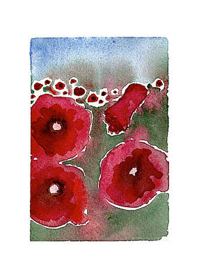 Czech Republic Painting - Poppies 100 by Meagan Healy