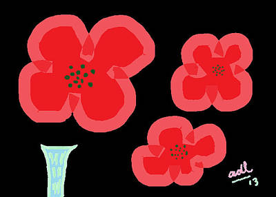 Painting - Poppies 2 by Anita Dale Livaditis